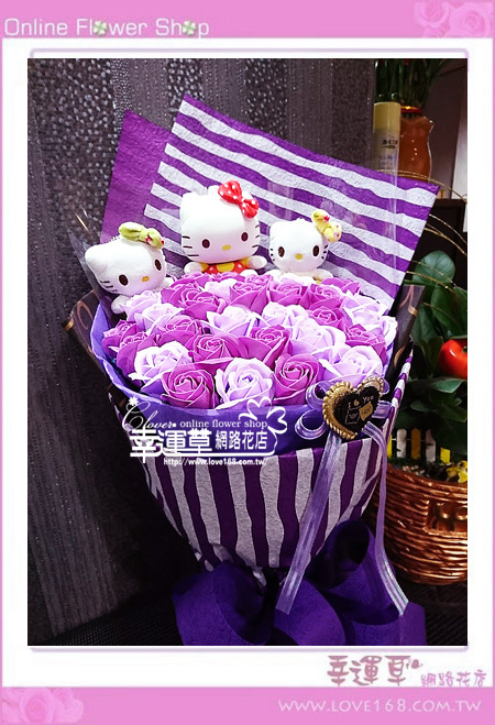 香氛玫瑰花束K0603