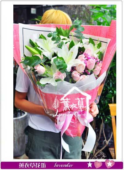 香水百合花束106070709
