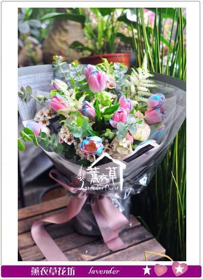 鬱金香花束設計107072306