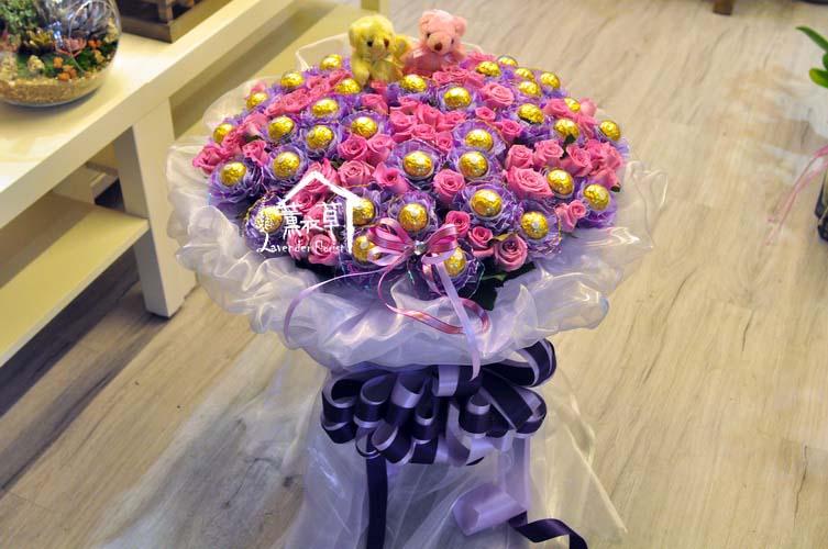 99朵玫瑰&金莎設計 107052901