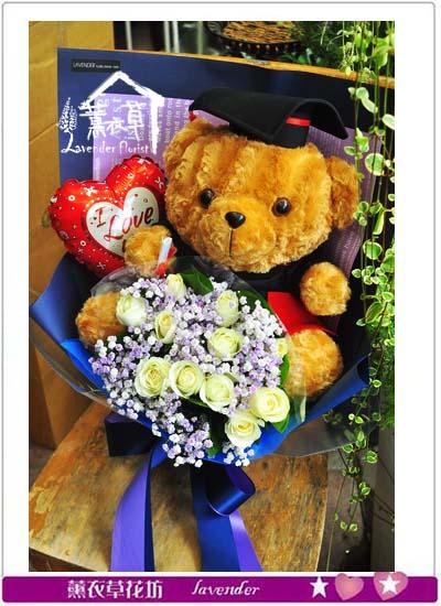 畢業熊熊熊花束107061007