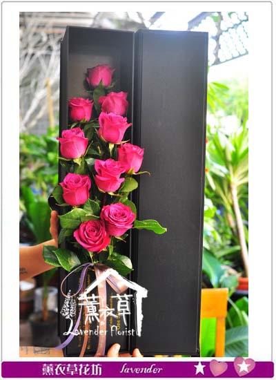 進口玫瑰&精美花盒106092201