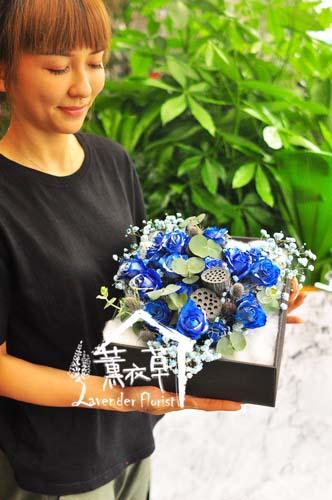 藍玫瑰花盒設計106070607