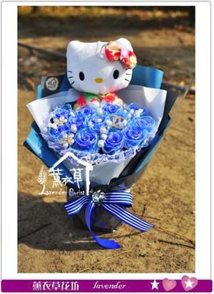 不凋花~水藍玫瑰B123001