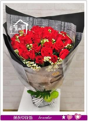 荷蘭紅玫瑰花束b080610