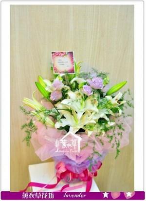 香水百合花束b040108