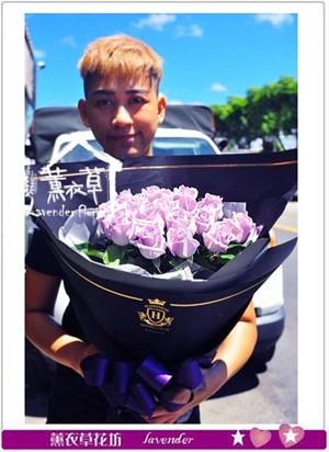 荷蘭空運紫玫瑰 花束 106082601