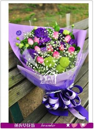 紫玫瑰花束b033024