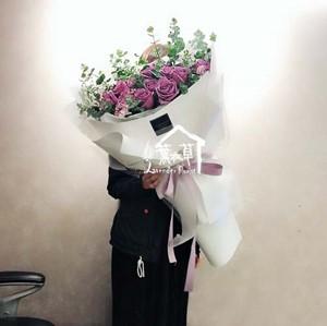 大型花束~紫玫瑰33朵 10708173020