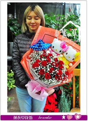 凱蒂貓&玫瑰設計 107010105