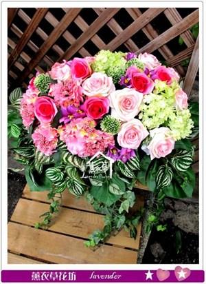 盆花設計~緞帶款c081101