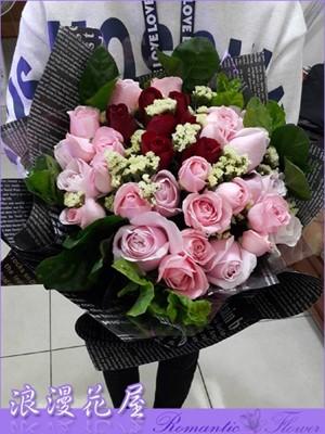 雙色玫瑰 精緻包裝 A200