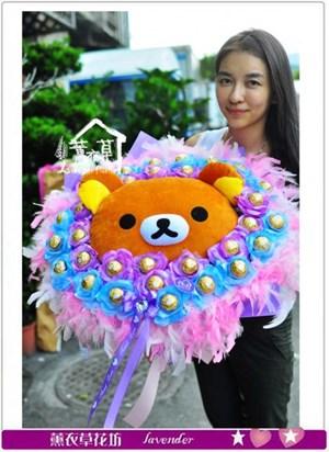 拉拉熊熊花束b080624