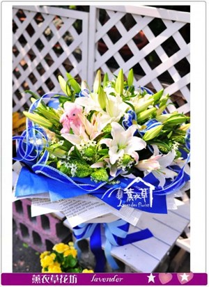 香水百合花束c101503