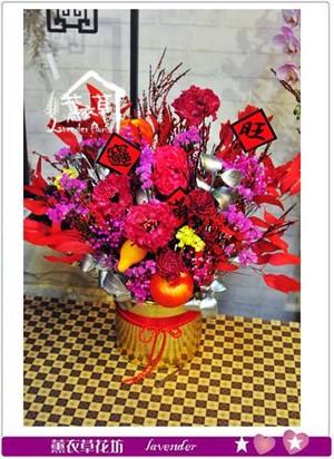 乾燥花~盆花設計 107020308