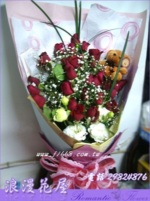 紅玫瑰33朵花束 A170