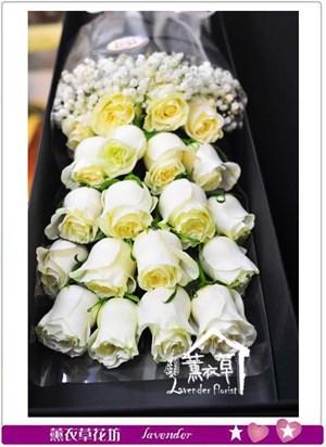 進口白玫瑰20朵B112507