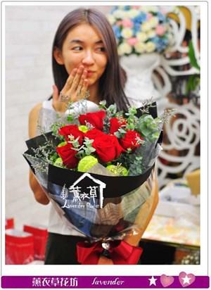 荷蘭進口玫瑰花束b080612