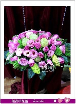會議桌盆花b120801