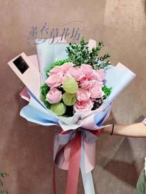 荷蘭玫瑰花束設計~韓式 107112015
