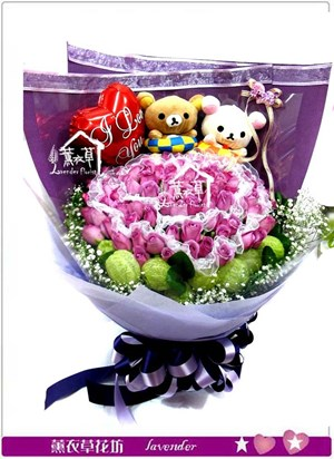 拉拉熊&99朵玫瑰bb111139