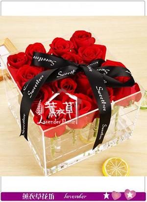 缺貨~9朵玫瑰花盒 設計106063015