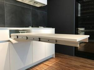 簡易型隱藏式伸縮餐桌