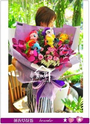 彩紅馬&鮮花設計 107070107