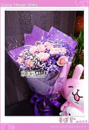 滿天星玫瑰花束A0822