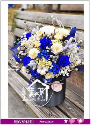 不凋花&乾燥花~盆花設計 107012503