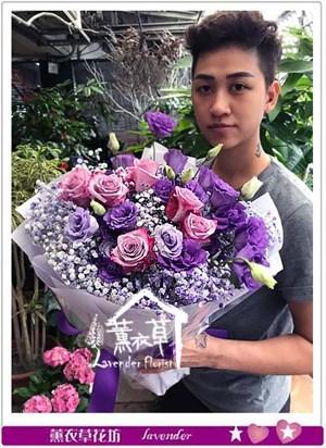 進口紫玫瑰花束 106060713