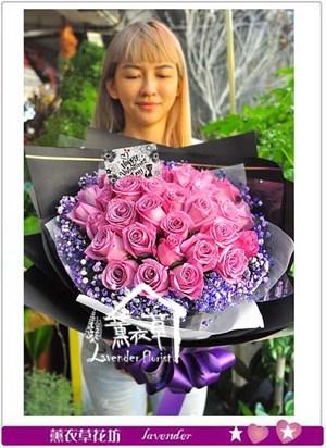 荷蘭空運紫水晶玫瑰106082721