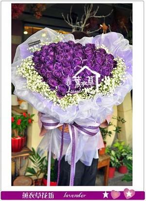 紫色玫瑰花束50朵 107071609