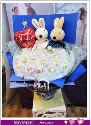 兔兔花束a081301