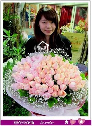 粉玫瑰99朵c032318
