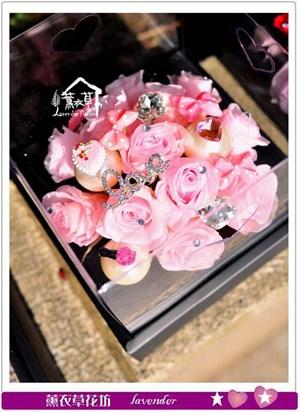 不凋花~歐式花盒款~c050250