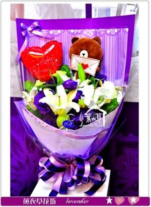 熊大&鮮花花束c123129